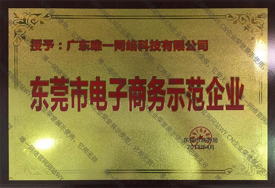 东莞市电子商务示范企业