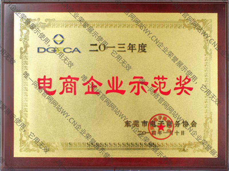 2013年度电商企业示范奖